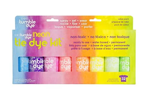 SEI Dye Tumble Dye Craft and Fabric Tie-Dye Kit 2 Oz 8 kg-Neon