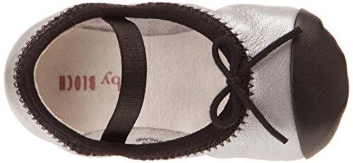 Bloch Minuet, Chaussures souples bébé fille Argent (Argento/Black)