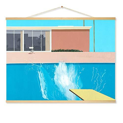 DierCosy Hängende Malerei Leinwand Scroll Gemälde Wand hängend dekorative Gemälde Moderne Stil Hintergrund Poster Interior Dekor A -