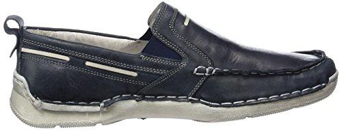 Josef Seibel Elroy, chaussures bateau homme Bleu - Blau (ocean/weiß)