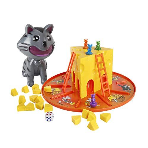 Vivianu El Gato Y El Ratón Comen Un Juego De Mesa De Juguetes De Tarta De Queso