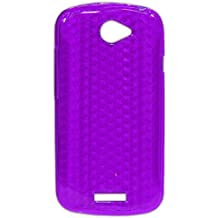 Ektor® Custodia Cover in Silicone con Design Innovativo per HTC One S - Viola