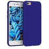 kwmobile Coque Apple iPhone 6 / 6S - Coque pour Apple iPhone 6 / 6S - Housse de téléphone en Silicone Bleu Roi