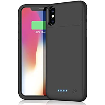 Coque Batterie iPhone X, iPhone 10 Battery Case, Fugousell 6000mAh Housse Etui Batterie Portable