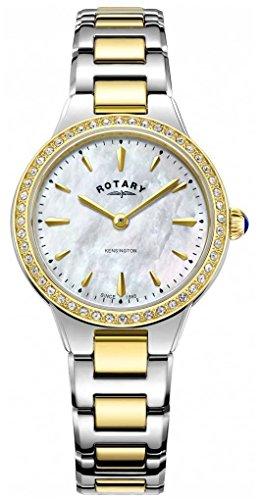 Rotary Kensington tone deux pierre set de montre pour femme LB05276/41