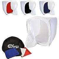 EX-Pro para cubo de luz diseño de 48,26 cm x 48,26 cm/50 cm x 50 cm, incluye 4 fondos varios colores.