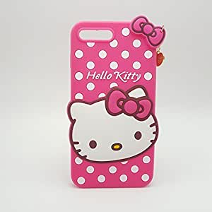 TRUE INDIA Apple iPhone 5G / 5S Cute Hello Kitty Soft Silicone Case, 3D Cartoon Polka Dots Hello Kitty Silicon Gel Rubber Case Cover Skin for Apple iPhone 5G / 5S
