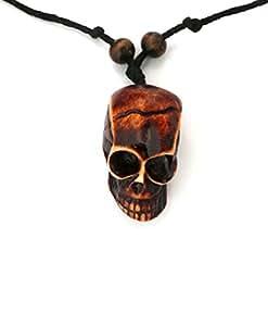 Modish Look Skull Locket With String:Men's Jewellery