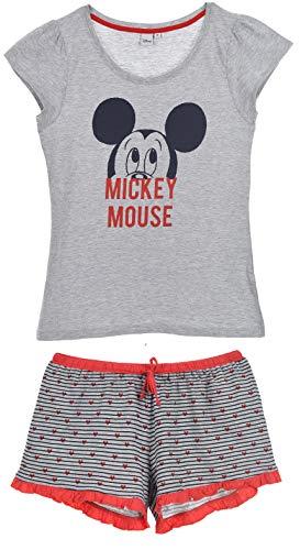 Minnie Mouse Damen Kurz Pyjama Schlafanzug (Damen Maus Shirt Minnie)