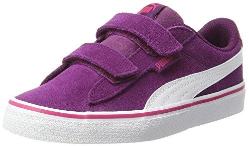 Puma Unisex-Kinder 1948 Vulc V PS Sneaker, Violett (Dark Purple-White), 34 EU (Mädchen Schuhe 12 Puma)