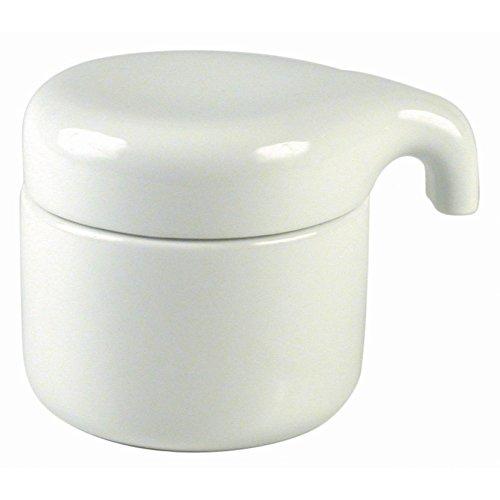 Authentics Paon Boîte avec Couvercle, Accessoire de Salle de Bains, Porcelaine, Blanc, 20010