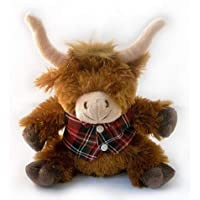 16cm Plush Muckle Coo - Highland Cow soft toy 40064