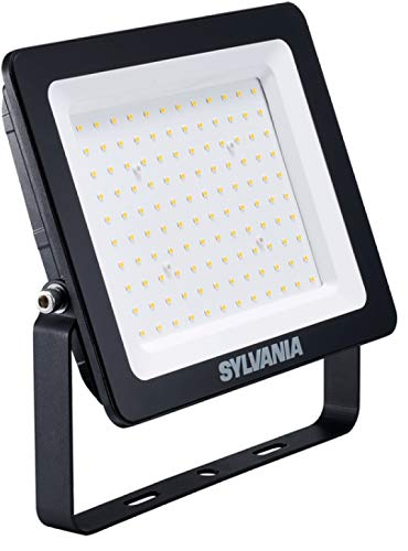 Sylvania LED-Strahler 100W 8000lm 3.000K, IP65 ohne Bewegungsmelder, schwarz (Sylvania 100w Led-lampe)