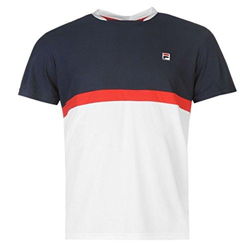 fila-herren-sal-t-shirt-leicht-kurzarm-rundhals-tee-top-freizeit-farbeinsatz-white-blue-small