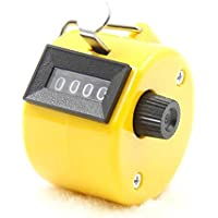 ZHUOTOP - Contador manual de 4 dígitos para contador de mano, amarillo