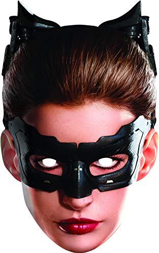 Fancy Ole - Kostüm Accessoires Zubehör Damen Frauen Batman Catwoman Maske, Card Mask, perfekt für Karneval, Fasching und Fastnacht, Schwarz