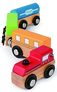 Hape International Hape Qubes Magnetic - Classic Train Toy