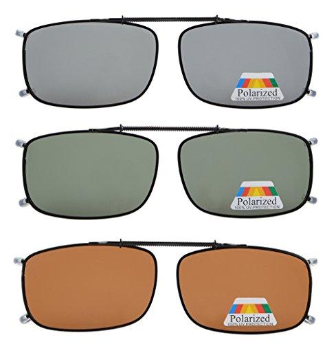 Eyekepper Grau/Braun / G15 Objektiv 3-pack Polarisierte Sonnenbrille 52x33 MM
