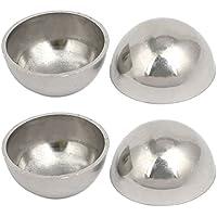 Fash Lady Escalera 304 Hemisferio decorativo de acero inoxidable 25 mm de diámetro 1 mm de espesor 4 unids