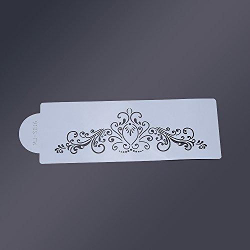 Anself S016 Esténcil de plantilla frontera de torta herramienta de decoración de pastel culinario width=