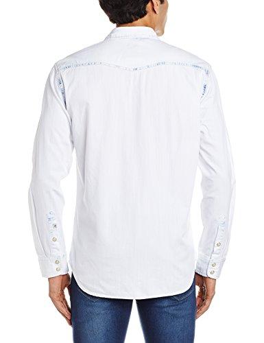 Herren Hemd lang Quiksilver The Tripwell Light Shirt LS Snow White