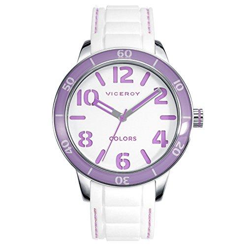 Reloj Viceroy Unisex 47866-94 Blanco y Violeta