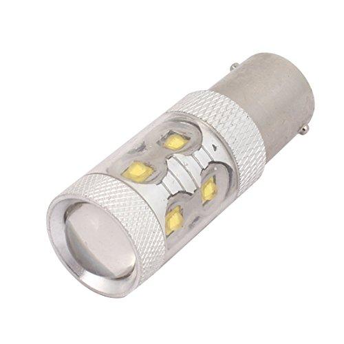 sourcing map DC 12V 50W Blanc 1156 3535 10LED Ampoules pour Rechange Lampes feu recul