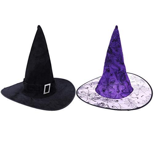 Steel Kostüm Mann Of Halloween - Amosfun 4 stücke Halloween hexenhut Hexe Kopfbedeckung Party Requisiten Party Cap kostüme Zauberer hüte Cosplay kostüm zubehör für Kinder Erwachsene
