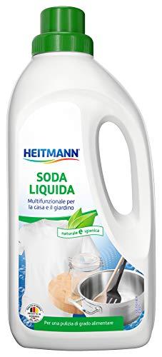 Heitmann Flüssige Soda: Vielzweckreiniger für Haushalt und Garten, entfernt Fett, Schmutz und Flecken, 1 Liter