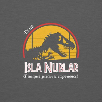 NERDO - Visit Isla Nublar - Damen T-Shirt Grau