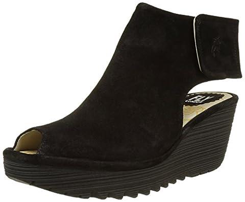 Fly London Women YONE642FLY Open-Toe Heels, Black (Black 007), 7 UK 40 EU
