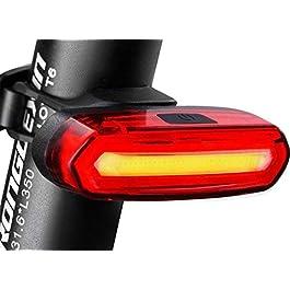 Eximtrade USB Ricaricabile Bicicletta 6 Modalità Fanale Posteriore Flash LED Lampada Luce d'avvertimento Impermeabile (Rosso e Bianco)