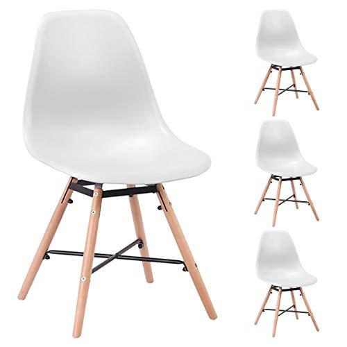 Harz Chaise (Unbekannt Malmo Stühle, skandinavisch, Weiß, 4 Stück)