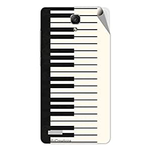Miicreations Mobile Skin Sticker For Xiaomi Redmi Note,Piano Pattern
