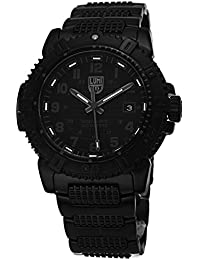LUMINOX Outdoor Mens Watch Modern Mariner Blackout (XS.6252.BO) Swiss Made with Black case and Strap + 200 Metres Waterproof Diving Watch