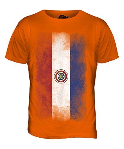 CandyMix Paraguay Verblichen Flagge Herren T Shirt Orange