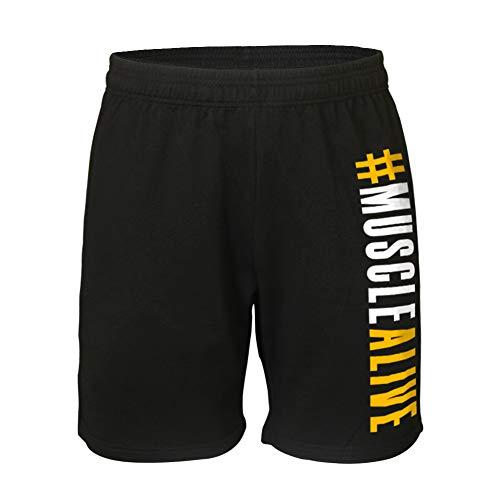Musclealive Hombres Culturismo Gimnasio Rutina de Ejercicio Pantalones Cortos Terry Algodón