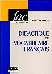 Didactique du vocabulaire français