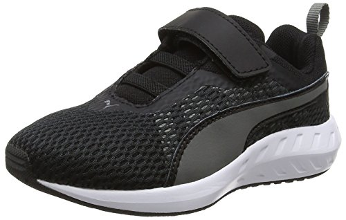 Puma Unisex-Kinder Flare 2 V Ps Low-Top Schwarz (puma black-quiet shade 02)