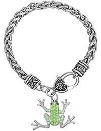 Skyrim Lovely et durable Animal Pendentif chaîne en métal Bracelet pour homme et femme (Grenouille)