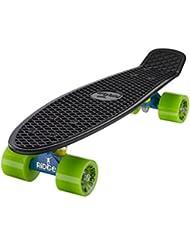 "Ridge Retro Cruiser 22"" - Skateboard, color azul / negro / verde, 58 cm"