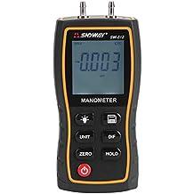 11 Unidad Portable Digital manómetro manómetro diferencial pantalla LCD Aire Impresión ...