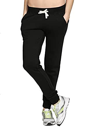 Thread Swag Women's Track Pants (TS127-S_Black)