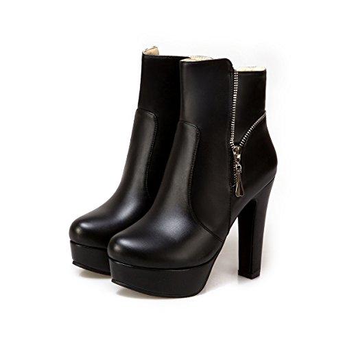 Qin & X Talon De La Cheville Bloc De La Femme À La Cheville Courte Cheville Bottes De La Plate-forme De Grandes Chaussures Noires