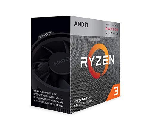 AMD Ryzen 3 3200G - Procesador con disipador de Calor Wraith Stealth (4 MB, 4 núcleos, Velocidad de 4 GHz, 65 W)