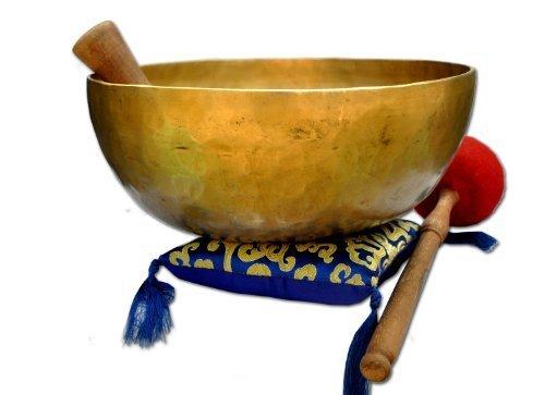27,9cm d-chakra Master Heilung Klangschale, Meditation, tibetische Schalen, inklusive Klangschale Kissen, Striker und Drum Stick.