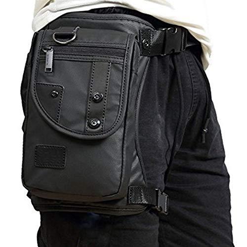 RANRANHOME Men Waterproof Oxford Leg Bag Tactical Military Motorcycle Riding Travel Hiking Thigh Drop Waist Pack -
