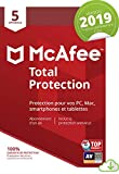 McAfee Total Protection 2019 | 5 Appareils | 1an d'abonnement | PC/Mac/Android/Smartphones [Download Code]...