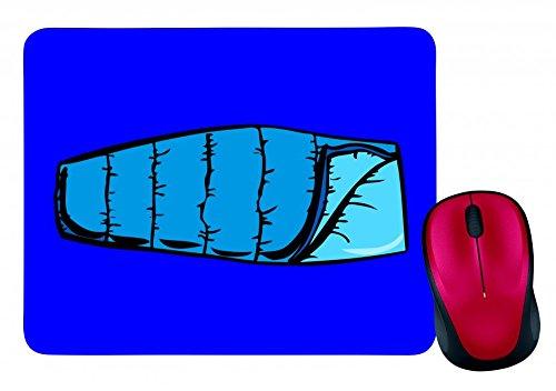 "Preisvergleich Produktbild Mauspad ""BLAU- CAMPING- WOHNUNG- SACCO A PELO- EINFACHE- SCHLAFSACK- TOURIST"" in Blau | Mousepad - Mausmatte - Computer Pad - Mauspad mit Motiv"