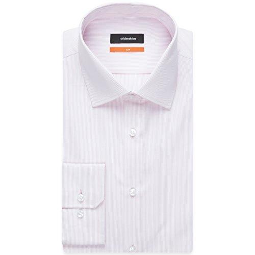 Seidensticker Slim Langarm MIT Kent Kragen Bügelfrei, Camicia Business Uomo Rosa (Rosé 42)